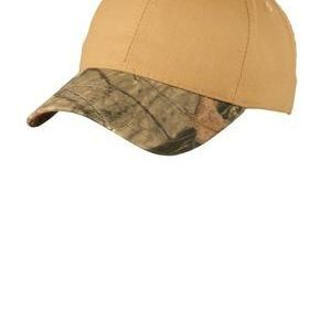 Twill Cap with Camouflage Brim Thumbnail