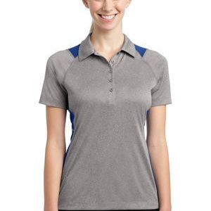 Sport Tek Ladies Heather Colorblock Contender ™ Polo Thumbnail