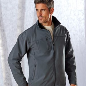 UltraClub Adult Ripstop Soft Shell Jacket with Cadet Collar Thumbnail
