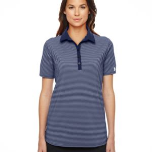 Ladies' Under Armour Playoff Stripe Polo Thumbnail