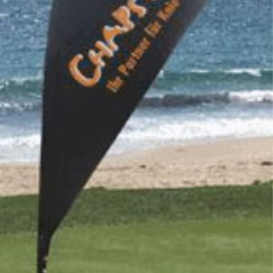 8ft Teardrop Flag Banner (Single Sided) Thumbnail
