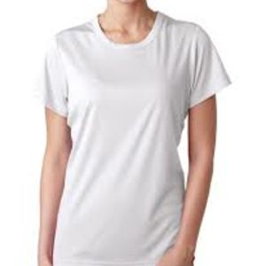 Sublimatable UltraClub® Ladies' Cool & Dry Sport Performance Interlock Tee Thumbnail