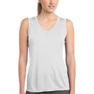 Sublimatable Ladies Sleeveless PosiCharge Competitor V Neck Tee Thumbnail