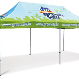 10ft x20ft Canopy Tent Full Color Print with Hexagon-Leg Steel Frame Thumbnail