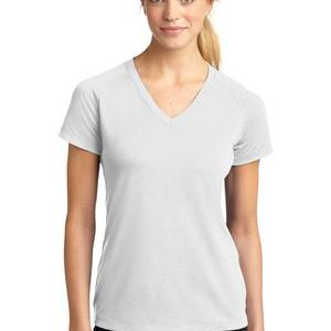 Sport Tek SOFT FEEL Sublimatable Ladies Ultimate Performance V Neck Thumbnail