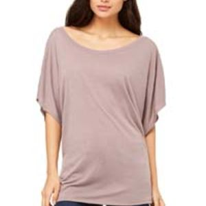 Bella + Canvas Ladies' Flowy Draped Sleeve Dolman T-Shirt Thumbnail