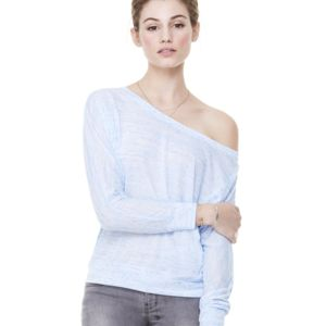 Sublimation Bella + Canvas Women's Flowy Long Sleeve Off Shoulder Tee Thumbnail