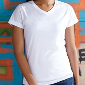 Ladies' Soft Feel Dri-Fit V-Neck T-Shirt Thumbnail