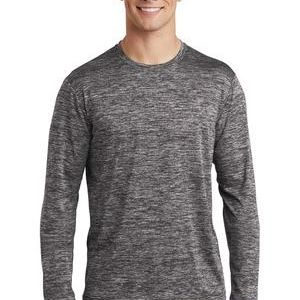 Sublimatable PosiCharge Long Sleeve Electric Heather Tee Thumbnail