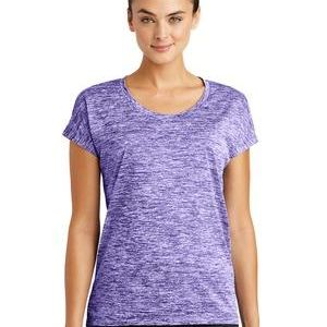 Multi-Colors Sublimatable Ladies PosiCharge Electric Heather Sporty Tee Thumbnail