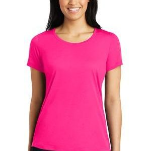 Ladies PosiCharge Competitor Cotton Touch Scoop Neck Tee - Sublimated Thumbnail