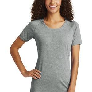 Ladies Sublimated PosiCharge Tri Blend Wicking Scoop Neck Raglan Tee Thumbnail