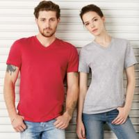 Unisex Jersey Marbled Short-Sleeve V-Neck Tee Thumbnail
