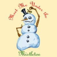 Mermaid Pillow with Snowman Mistletoe for Christmas  Design