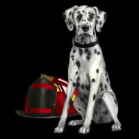 Fire Dalmatian Dog Department Mermaid Sequin Pillow  Design