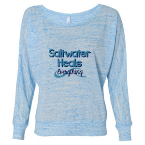 Beach Shirt Long Sleeve Slouchy Saltwater Heals Everything Thumbnail