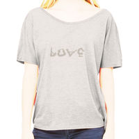 Ladies Love Yoga in Grey Slouchy Tee Thumbnail