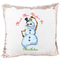 Mermaid Pillow with Snowman Mistletoe for Christmas  Thumbnail