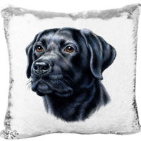 Black Lab- Mermaid Sequin Pillow Thumbnail