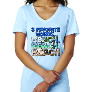 Ladies T-shirt V neck - Beaches Heal Everything Thumbnail