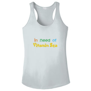 Ladies Racerback Tank - In Need of Vitamin Sea  Thumbnail